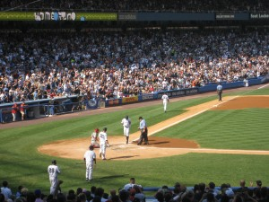 Wilson Betemit finishing his home run trot on August 2, 2008 against the Angels.